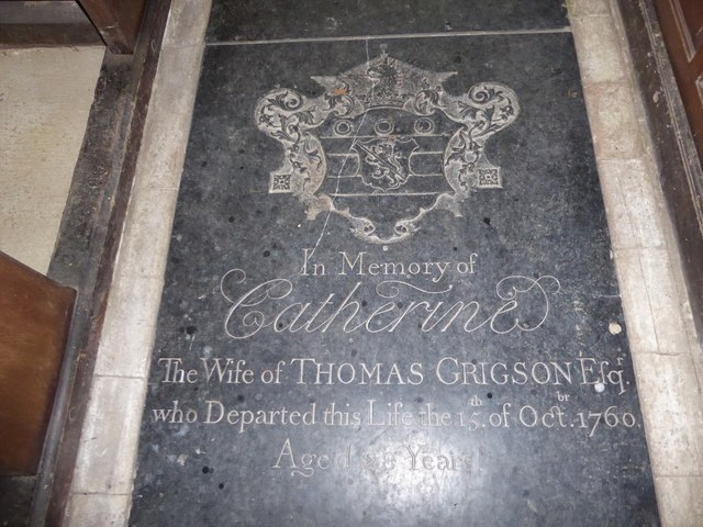 St Peter, Reymerston: ledger slab (e)