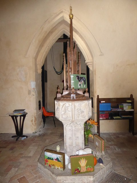 St Peter, Reymerston: font