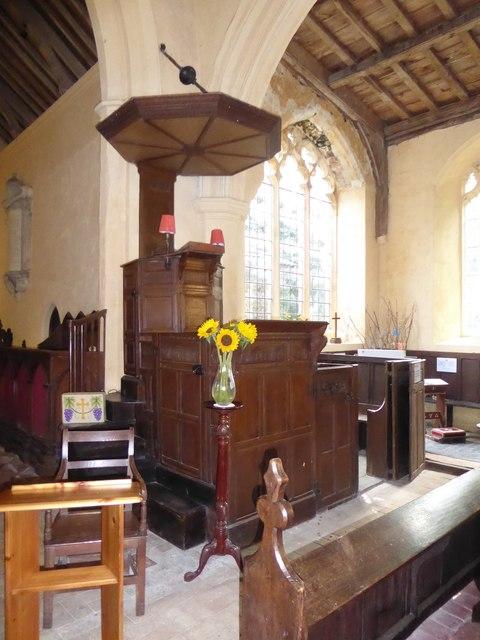St Peter, Reymerston: pulpit