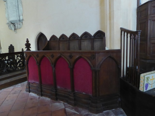 St Peter, Reymerston: choir stalls