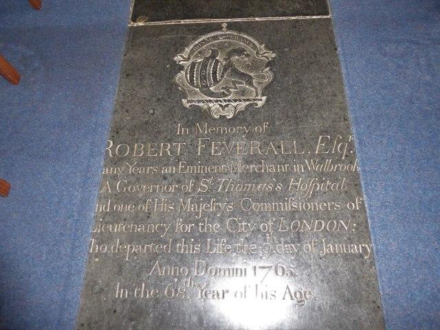 SS Peter & Paul, Carbrooke: ledger slab (II)