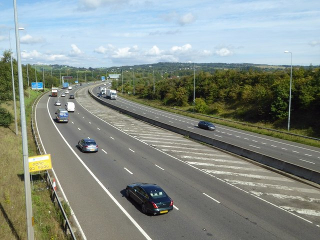 The M5 near Catshill