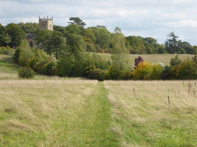 Footpath to Croome church