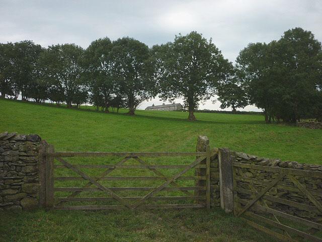 Gate on footpath near Lawkland