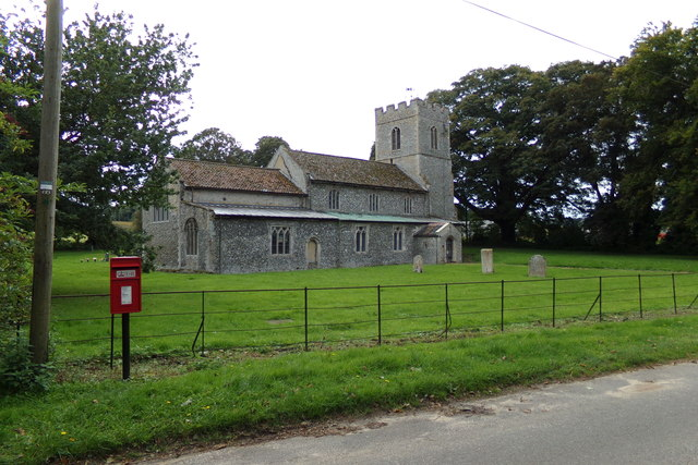 South Acre Postbox & St. George's Church
