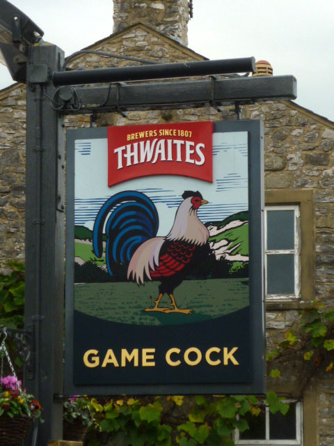 Sign for the Game Cock, Austwick