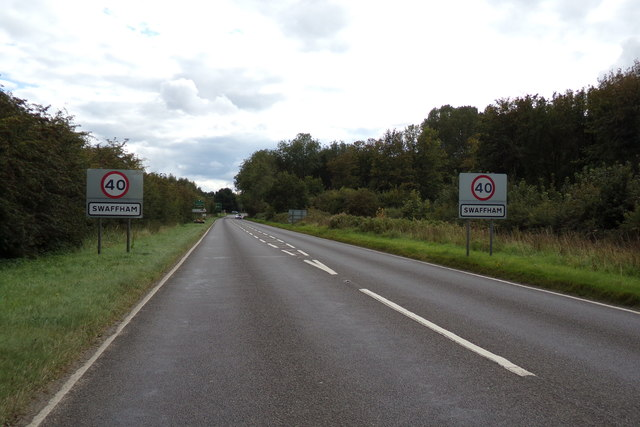 Entering Swaffham on the A1065 Castle Acre Road