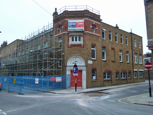 Building work on corner of Wicklow and Britannia Streets, WC1