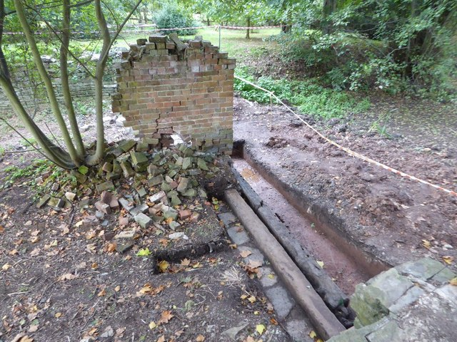 Remains of the boathouse, Croome Park