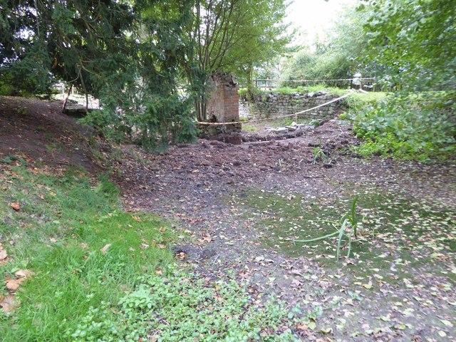 The remains of the boathouse, Croome Park