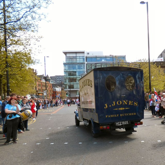 Jones's van on Piccadilly