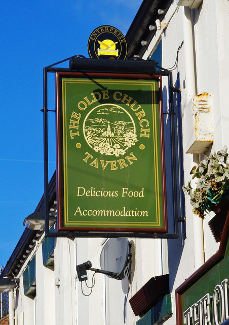 The Olde Church Tavern (2) - sign, North Baileygate, Pontefract