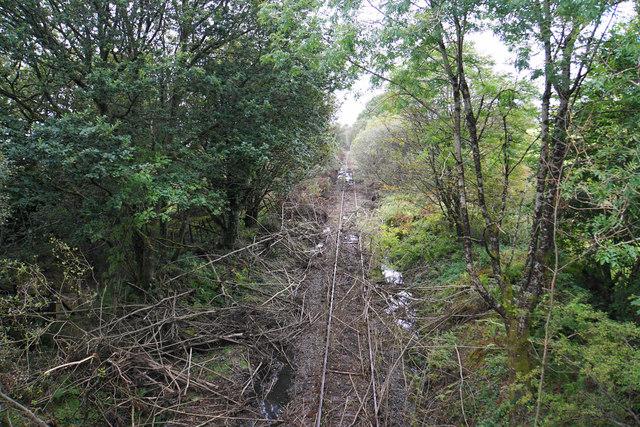 Disused railway line at Utica