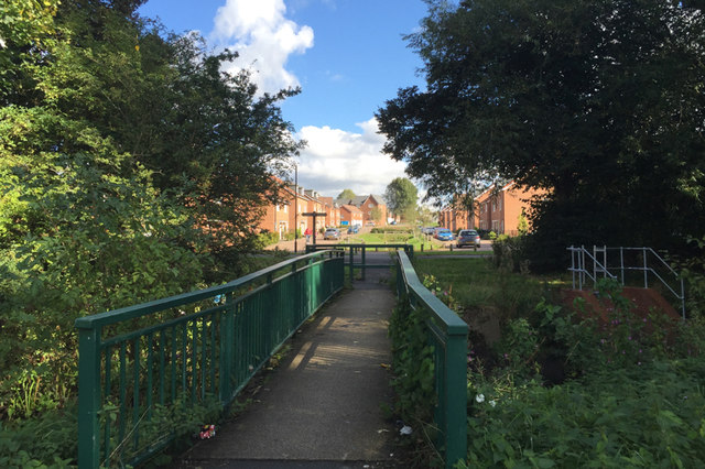 Footbridge from Bell Green across the Sowe to Wood End
