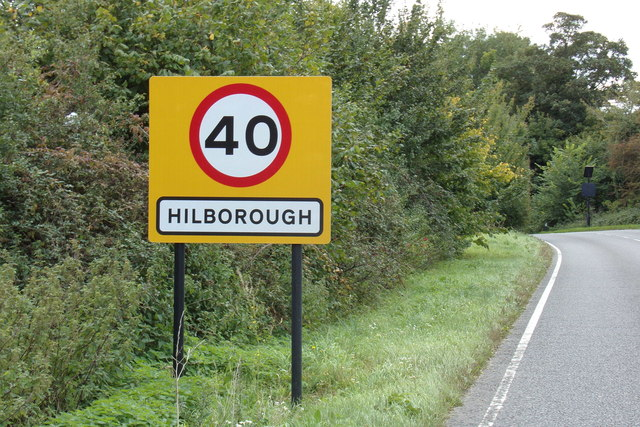 Hilborough Village Name sign
