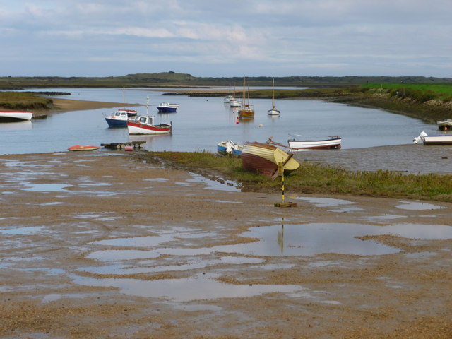 Boats at Burnham Overy Staithe in Norfolk