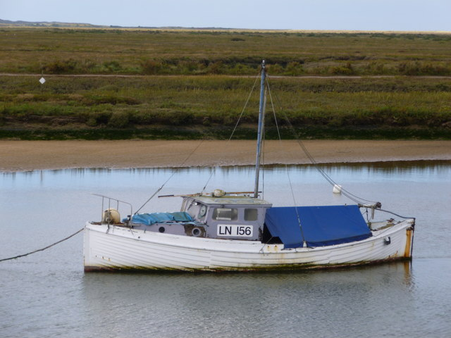 Fishing boat in Overy Creek near Burnham Overy Staithe