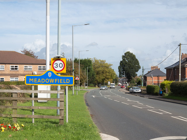 A690 entering Meadowfield