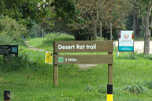 Desert Rat Trail sign