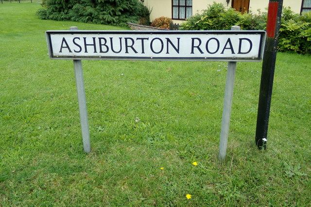 Ashburton Road sign