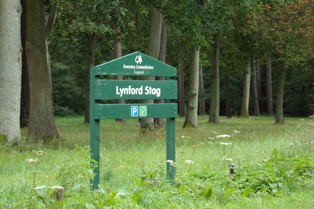 Lynford Stag sign