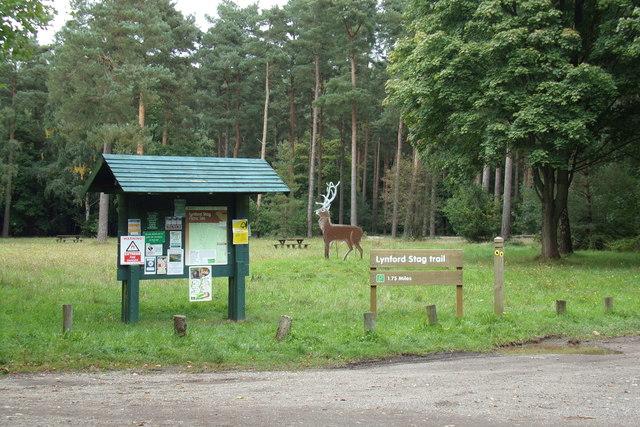 Lyndford Stag sign & Lyndford Stag Trail sign