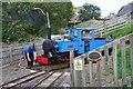 NT9239 : 'Bunty' on the turntable, Etal station by Jim Barton