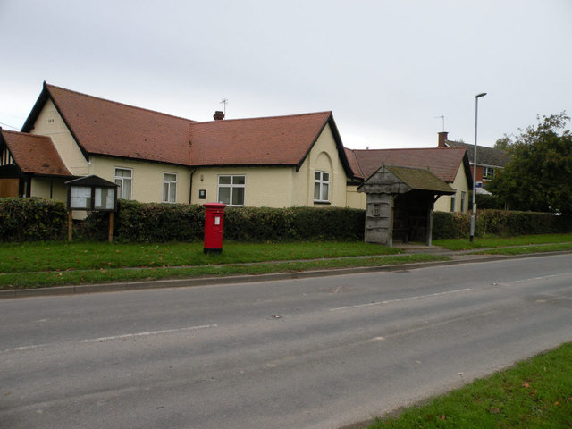 Post Box and Bus Shelter, Newton