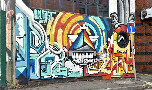 Street art, Academy Exchange site, Belfast - September 2017(3)