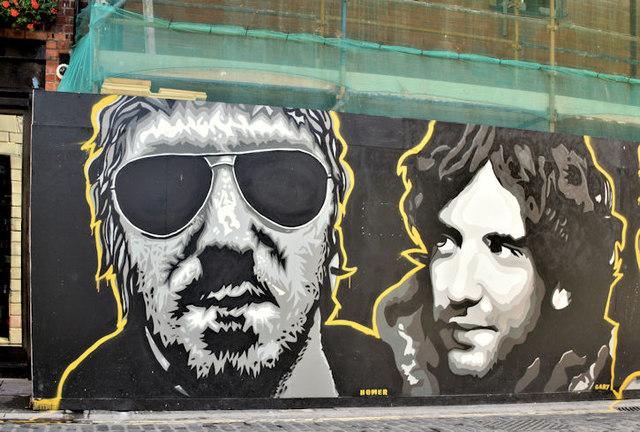 Street art,  Hill Street, Belfast (September 2017)