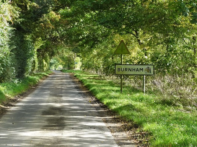 Entering Burnham from the west