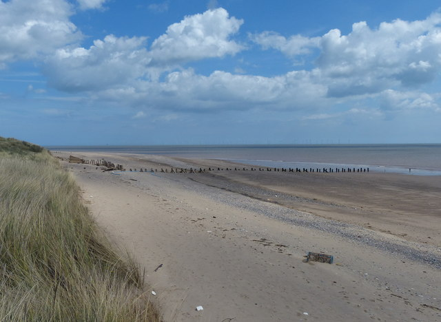 North Sea coastline at Spurn Head