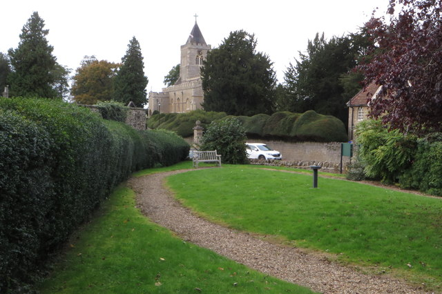 Lancelot's Place with the church beyond