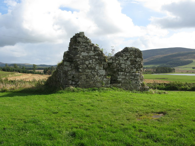 Ruined Tower House, Westhall Farm, north-east of Newbigging