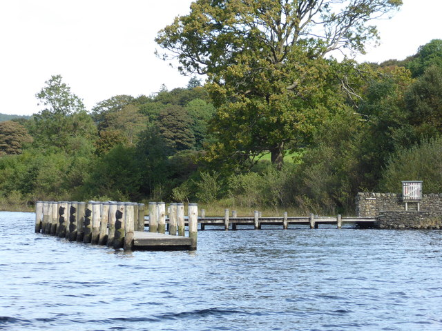 Landing stage for Brantwood - Coniston Water