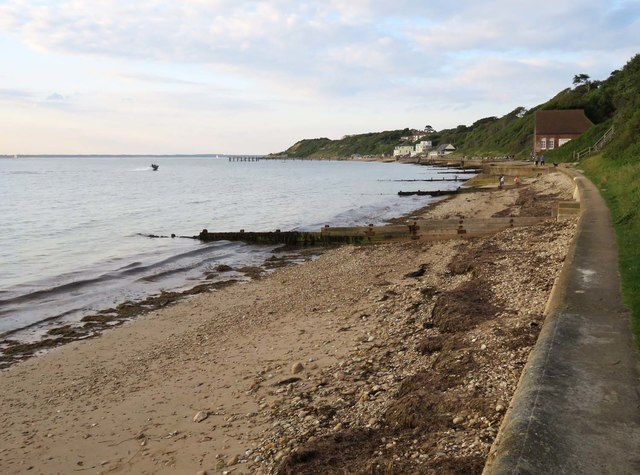 The beach at Totland