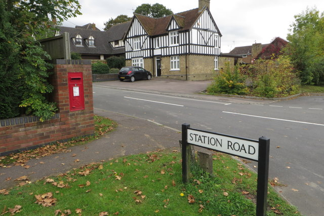George VI postbox on the corner of station road
