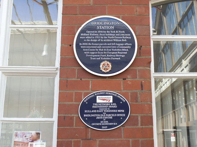 Bridlington station - plaque