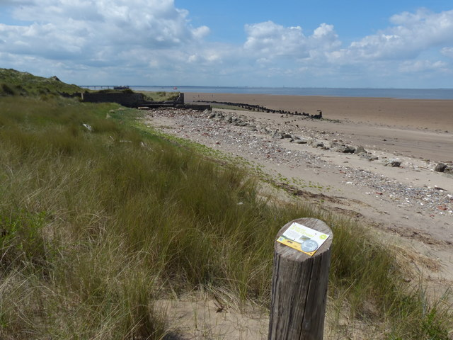 Humber estuary shoreline at Spurn Head