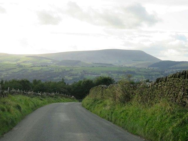 Delves Lane on Crawshaw Hill