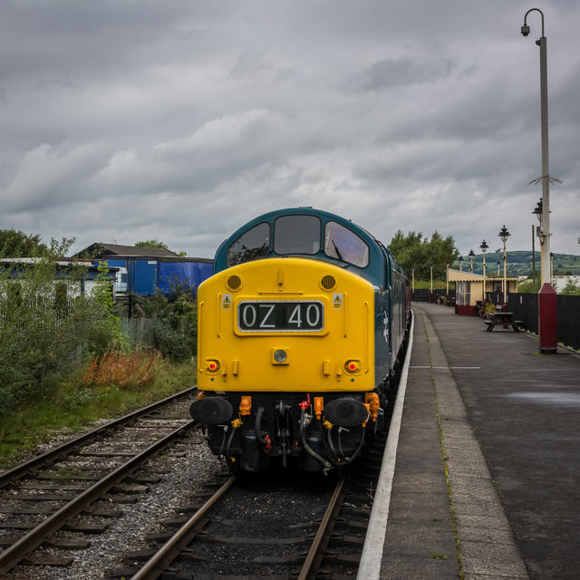 Class 40 Loco at Heywood Station