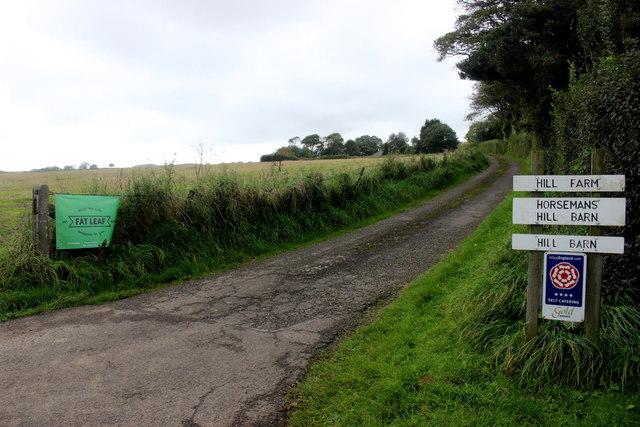 Entrance to Hill Farm