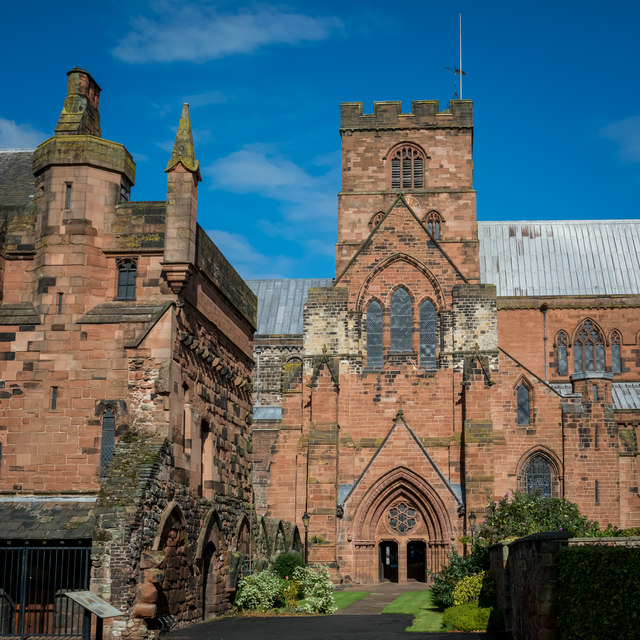 Entrance and Tower of Carlisle Cathedral