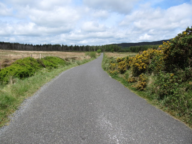 The Piedmont-Upper Jenkinstown road  at the col between Annaloughan and Mullaghattin mountains