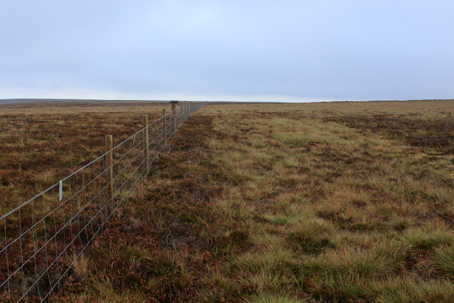 Fence between West Bolton Moor and Whitaside Moor