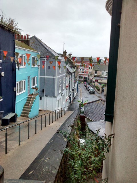 Looking towards Webber Street from the backdoor to Falmouth Art Gallery