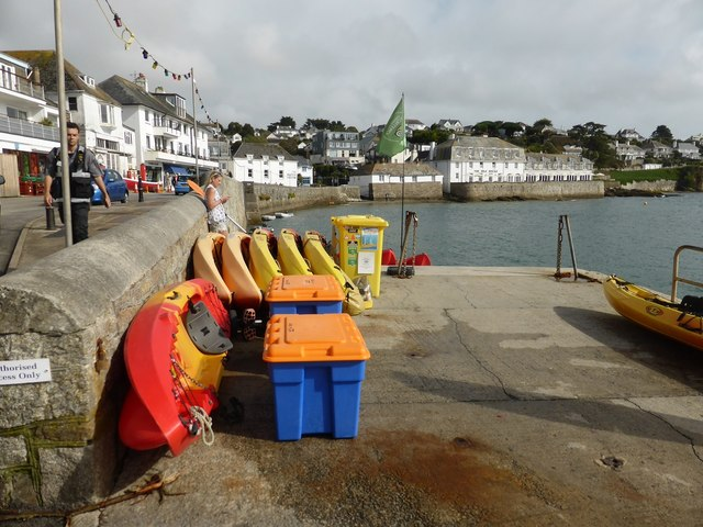 The slipway by the quay at St Mawes