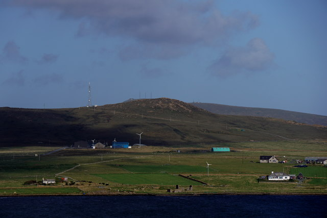 Across the voe at Baltasound from Upswall