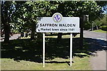 TL5337 : Entering Saffron Walden, B1052 by N Chadwick