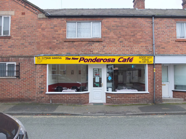 The new Ponderosa Cafe, Mart Lane, Burscough